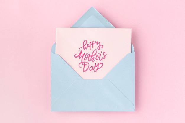 Hermosa composición plana para el evento del día de la madre.
