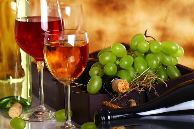 Hermosa composición de vino