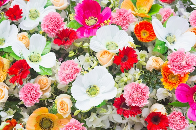 Hermosa decoración de la boda de flores