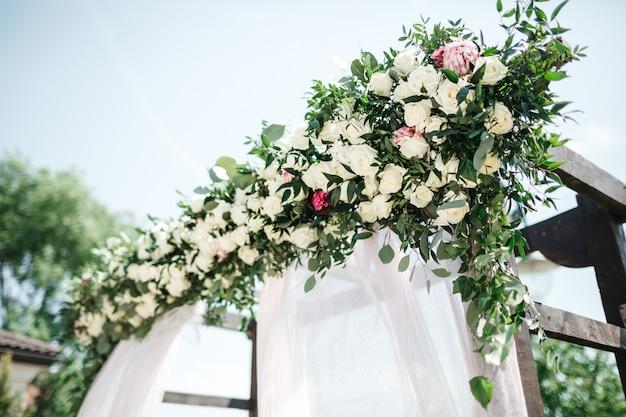 Hermosa decoración el día de la boda
