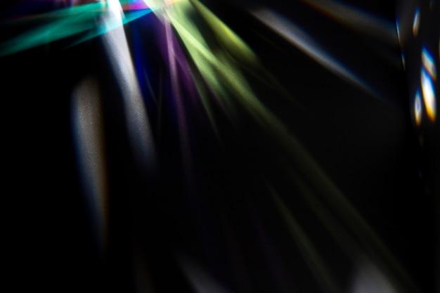 Hermosa desviación de la luz del prisma