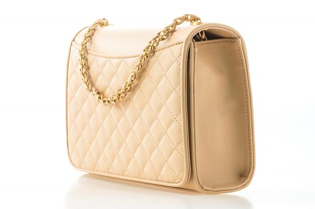 Hermosa elegancia y lujo moda mujer bolso.