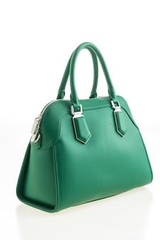 Hermosa elegancia y moda de lujo verde bolso