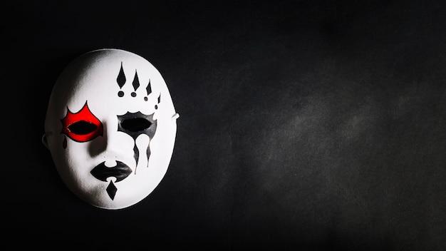 Hermosa y espeluznante máscara para halloween
