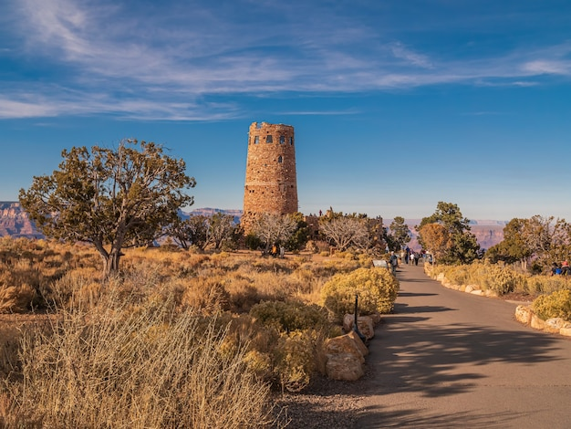 Hermosa foto de la atalaya en el parque nacional del gran cañón en los estados unidos
