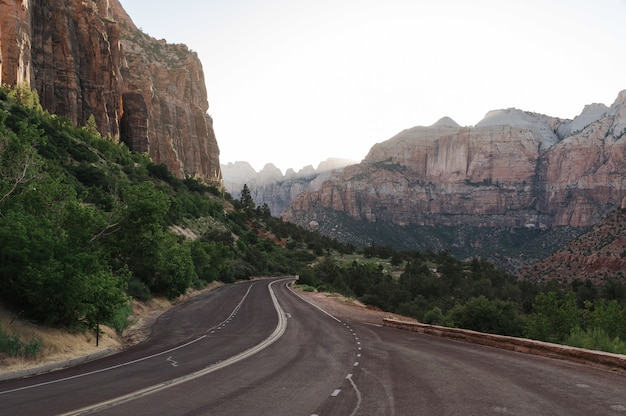Hermosa foto del parque nacional zion springdale, ee.