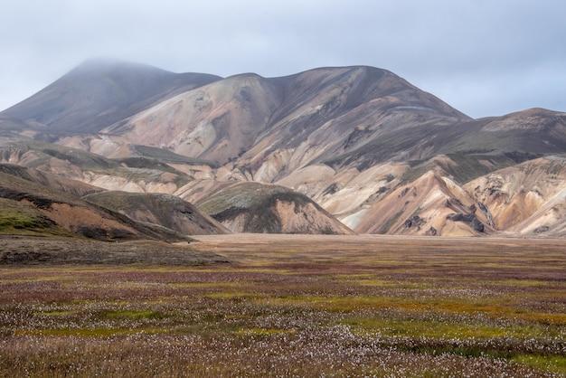 Hermosa foto de un valle en islandia con montañas