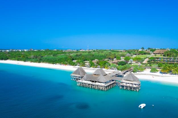 La hermosa isla tropical de zanzíbar