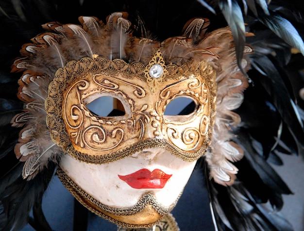 Hermosa máscara del carnaval de venecia.