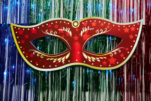 Hermosa máscara de carnaval