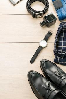 Hermosa moda casual para hombres y ropa.