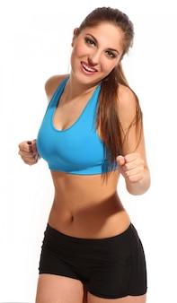 Hermosa mujer activa en ropa deportiva