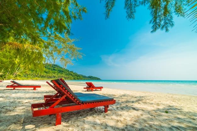 Hermosa naturaleza playa tropical