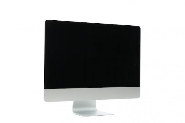 Hermosa pantalla vacía aislada en blanco