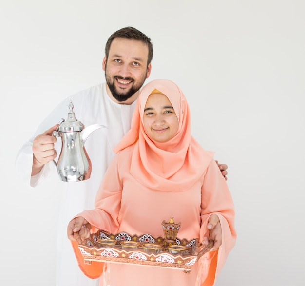 Hermosa pareja musulmana