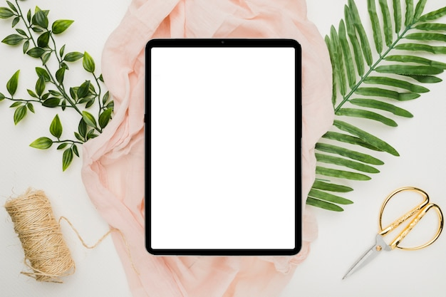 Hermosa plantilla de tableta para boda