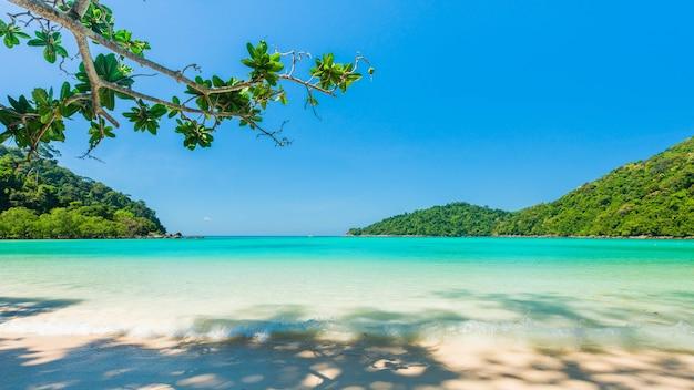 Hermosa playa tropical ubicada isla de surin, tailandia