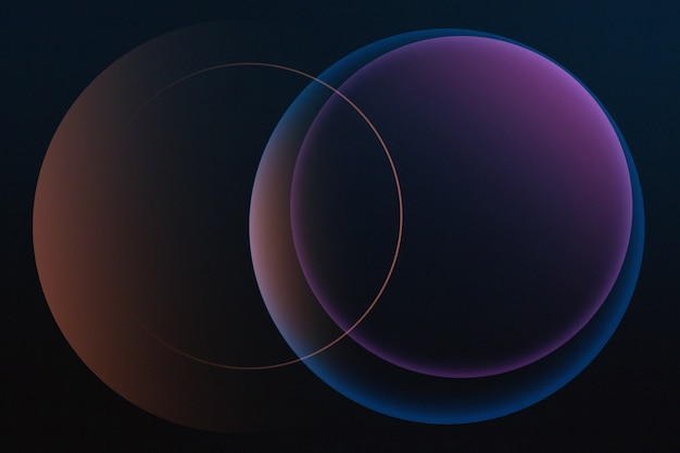 Hermosa representación de círculos de colores