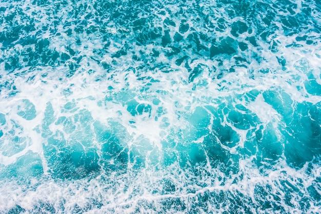 Hermosa superficie de olas de agua de mar y océano