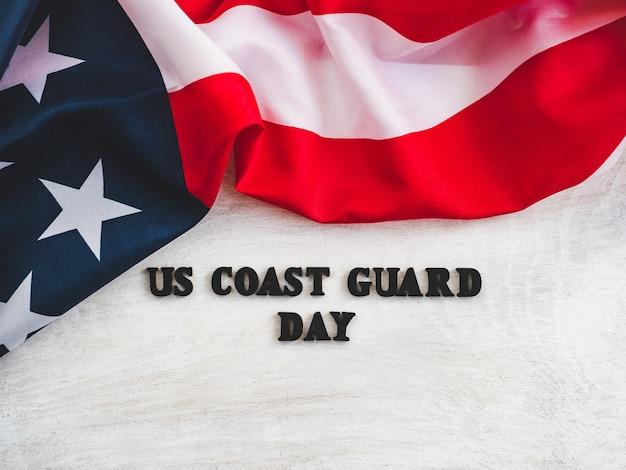Hermosa tarjeta para el día de la guardia costera de los estados unidos