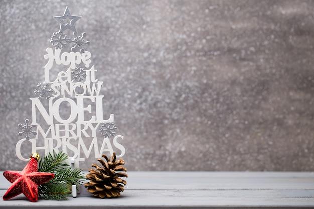 Hermosa tarjeta de felicitación de navidad