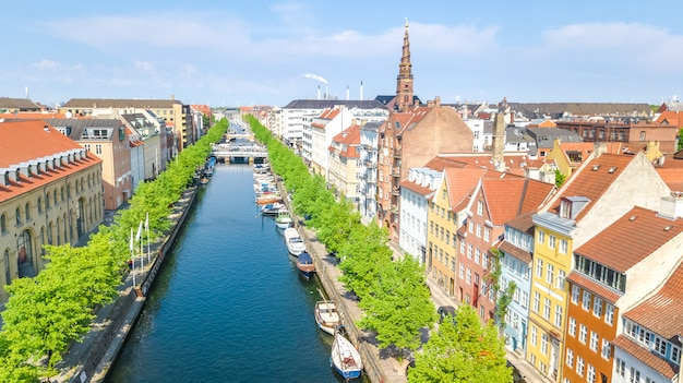 Copenhague nyhavn dinamarca | Foto Premium