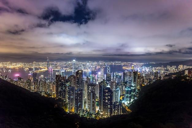 Hermosa vista de hong kong