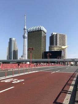 Hermosa vista de la luz del día a los edificios modernos de la gran ciudad