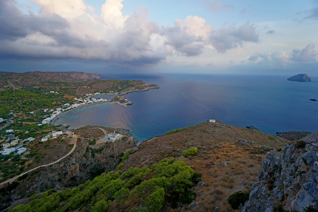 Hermosa vista panoramica del mar