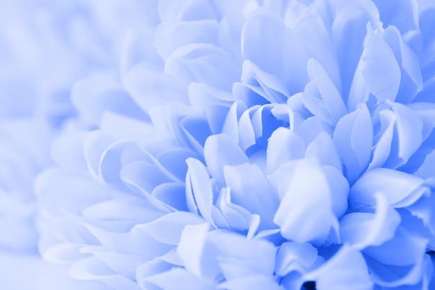 Hermosas flores azules hechas con filtros de color, color suave y estilo borroso