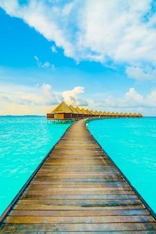 Hermoso cielo de vacaciones casa ocean