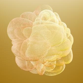 Hermoso color humo. ilustración 3d, renderizado 3d.