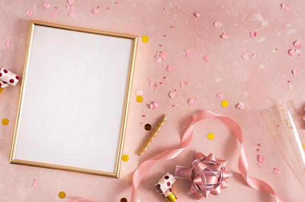 Hermoso concepto de cumpleaños con espacio de copia