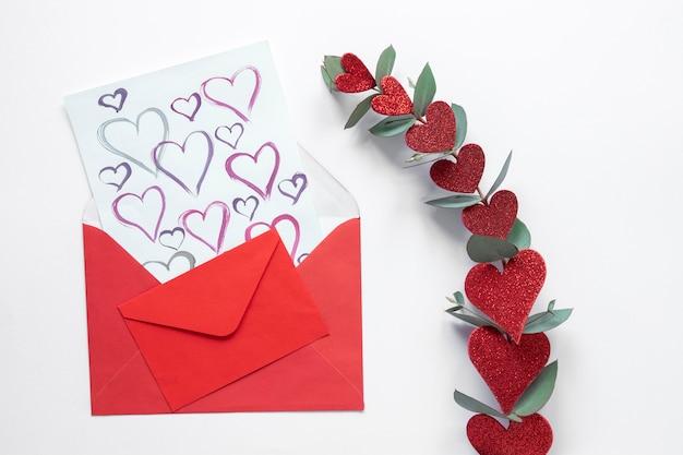 Hermoso concepto de día de san valentín con espacio de copia