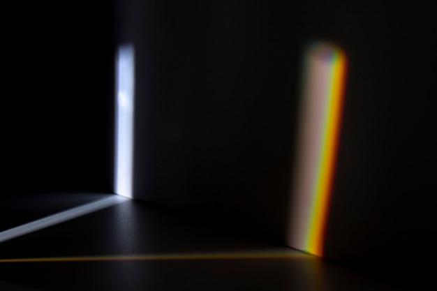 Hermoso concepto de luz de prisma