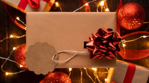 Hermoso concepto de navidad con espacio de copia