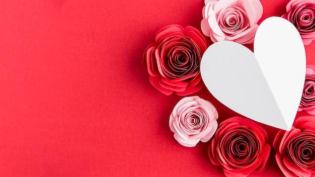 Hermoso concepto de san valentín con rosas