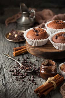 Hermoso y delicioso chocolate de postre.