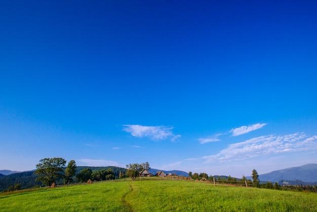 Hermoso día soleado es en montaña