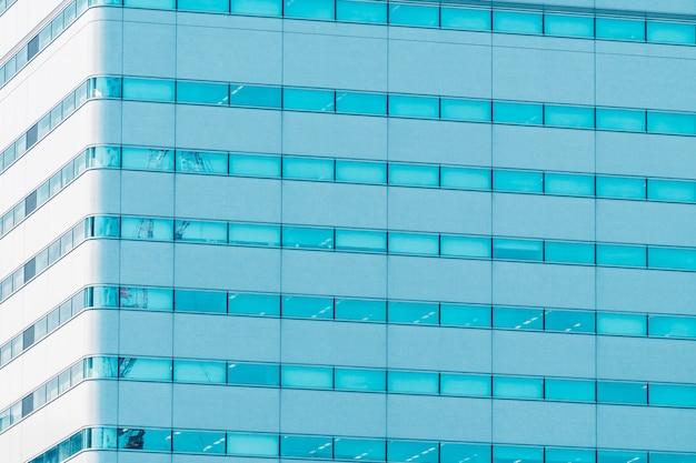 Hermoso edificio exterior con texturas de ventana de vidrio.