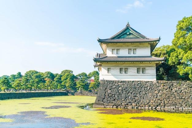 Hermoso edificio del palacio imperial en tokio