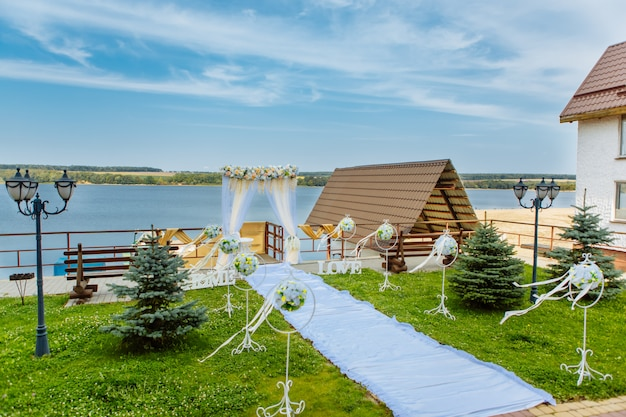 Hermoso escenario de boda