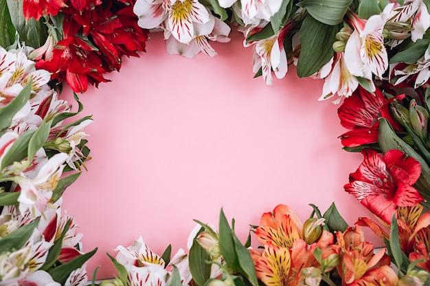 Hermoso fondo floral alstromeria.
