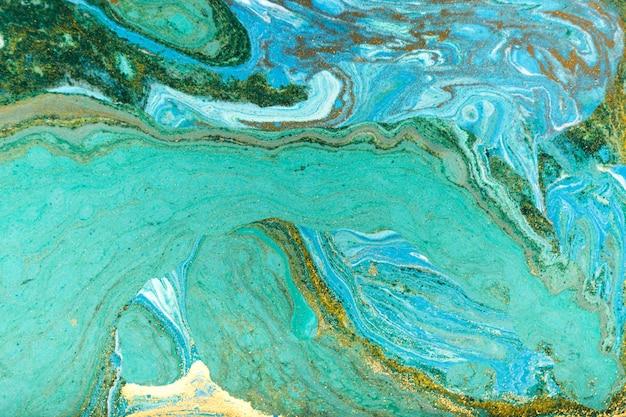 Hermoso fondo de mármol acrílico turquesa único