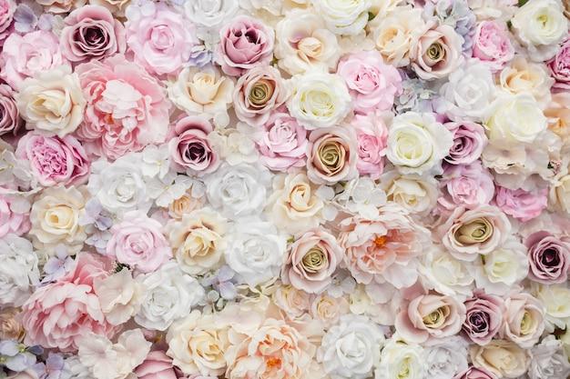 Hermoso fondo rosas para el día de san valentín.