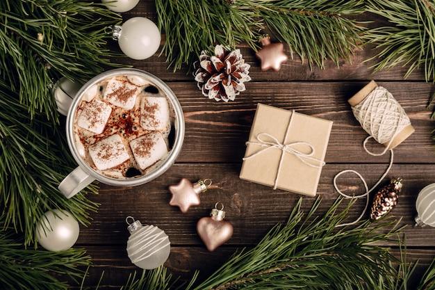 Hermoso fondo vintage navideño