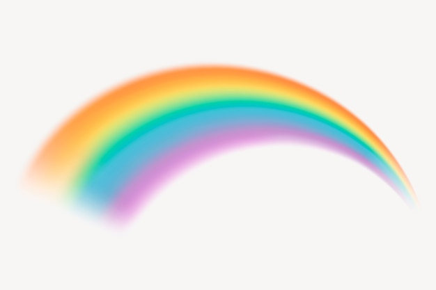Hermoso gráfico de elementos de arco iris