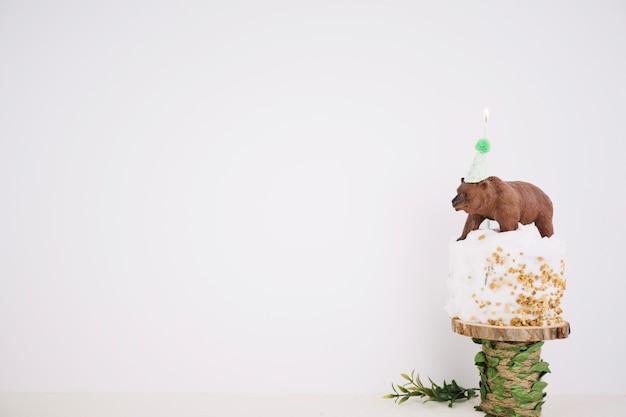 Hermoso juguete oso cupcake