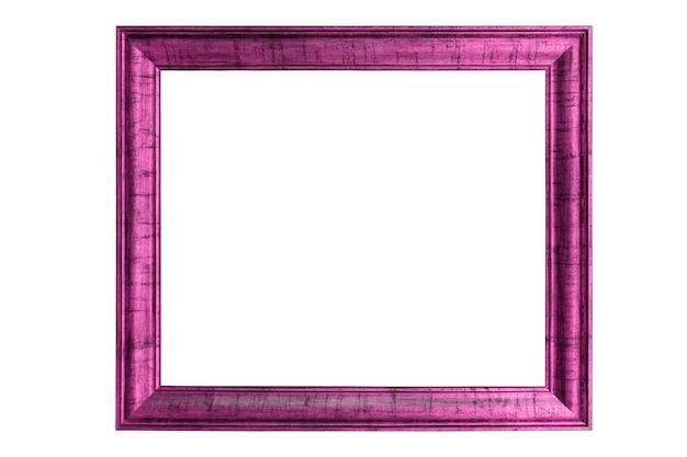 Hermoso marco rosa aislado sobre fondo blanco.
