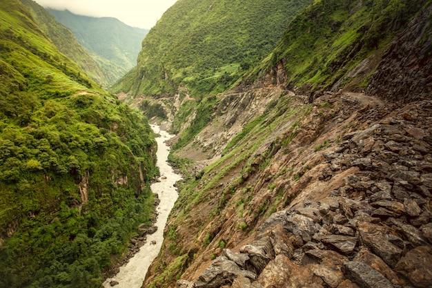 Hermoso paisaje asiático